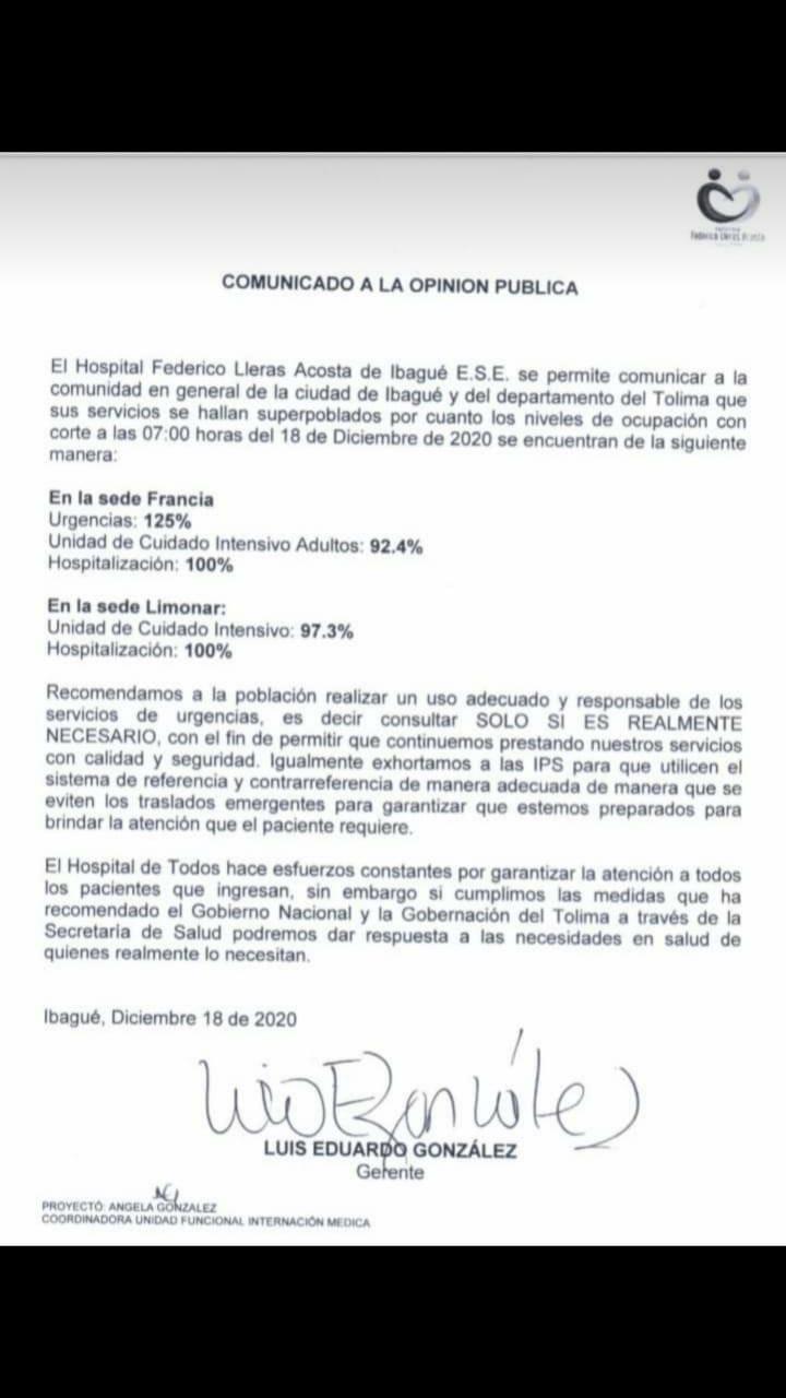 Federico Lleras Acosta esta superpoblado y podría colapsar en los servicios 3