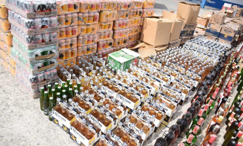 24 mil 100 unidades de botellas de licor adulterado y de contrabando destruidas en el Tolima 1