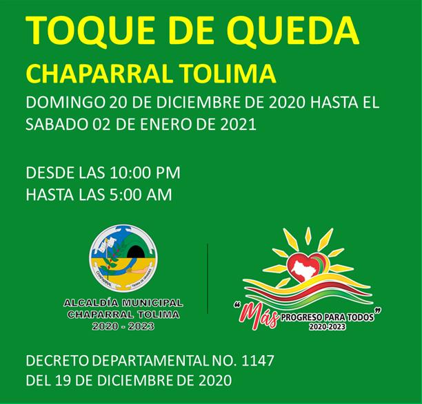 Estos municipios ya adoptaron medidas para fin de año en el Tolima 12