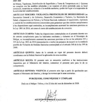 A pesar de la alerta roja hospitalaria en el Tolima, Melgar no tendrá toque de queda 3