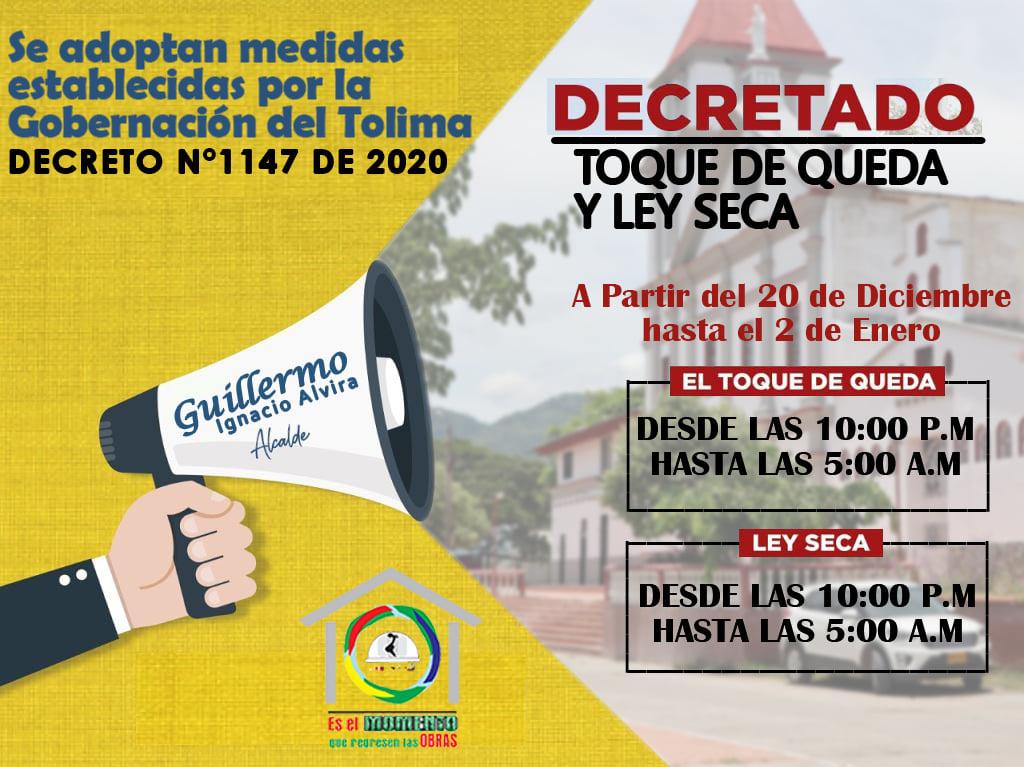 Estos municipios ya adoptaron medidas para fin de año en el Tolima 13