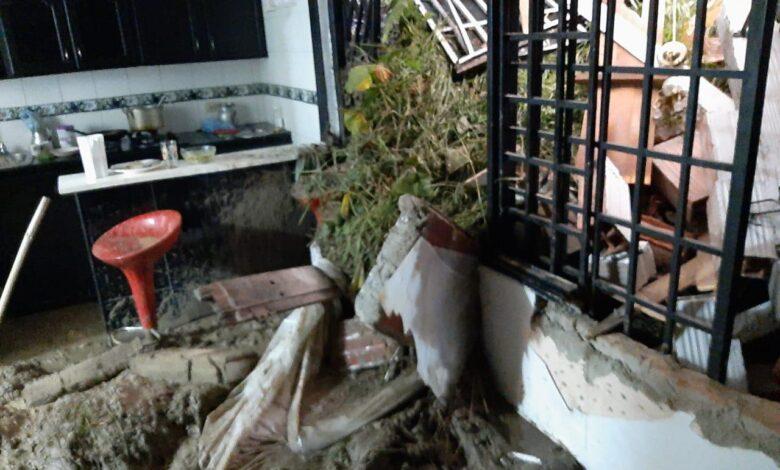 Lluvias ocasionan emergencia en la vereda Ancón Tesorito 7