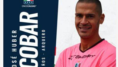 El arquero tolimense Jose Huber Escobar ahora se viste con el blanco del Once Caldas. 3
