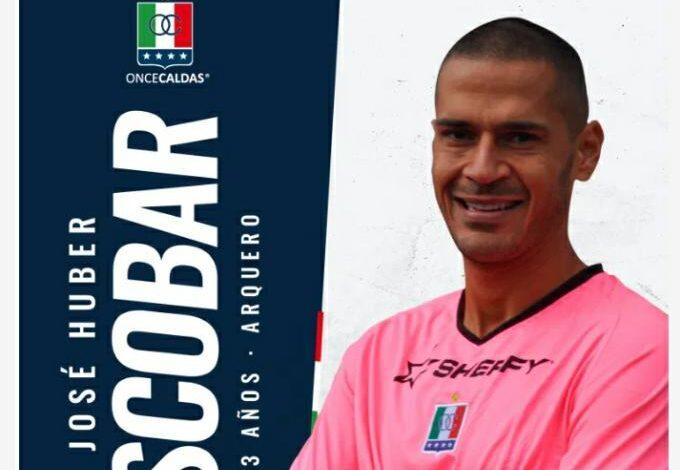 El arquero tolimense Jose Huber Escobar ahora se viste con el blanco del Once Caldas. 1
