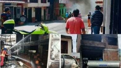 Un cilindro de gas sería la causa de la explosión en Cajamarca 8