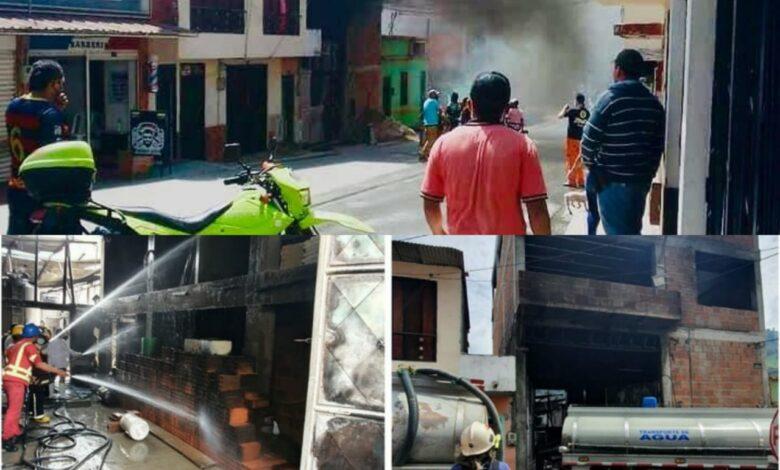 Un cilindro de gas sería la causa de la explosión en Cajamarca 1