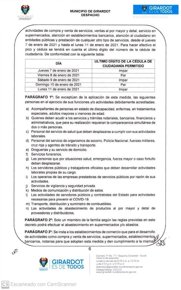 Cundinamarca decreta toque de queda, ley seca y pico y cédula 3