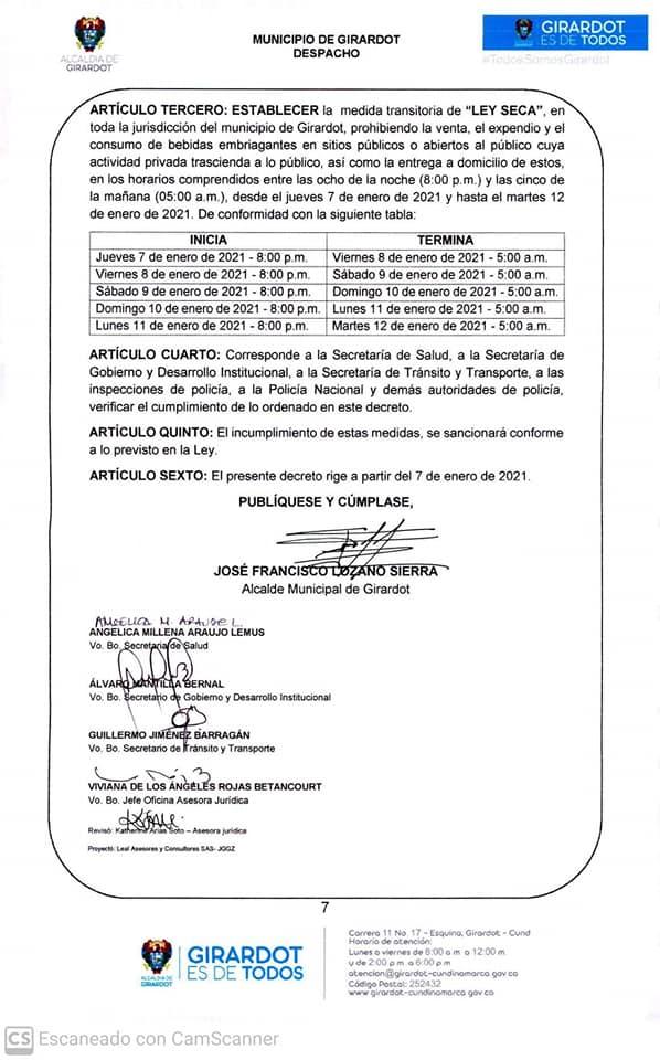 Cundinamarca decreta toque de queda, ley seca y pico y cédula 4