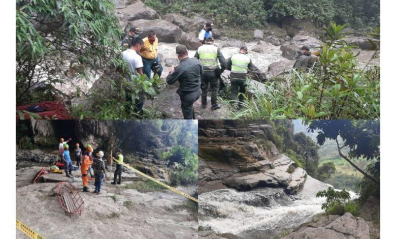Tolimense y su hijo fallecieron tras caer de una cascada de 58 metros de altura 1