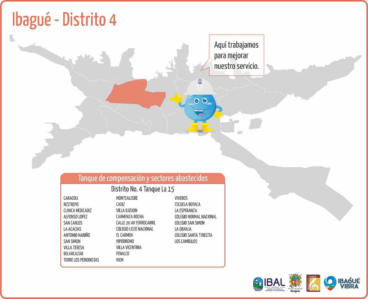 Cerca de 30 barrios de Ibagué se quedarán sin agua este domingo 4