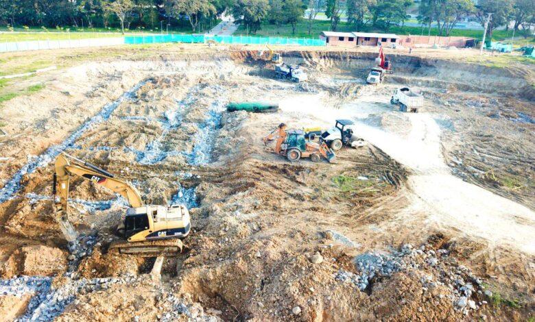 12.000 metros cúbicos de tierra se han removido para Obras del Coliseo Mayor 1