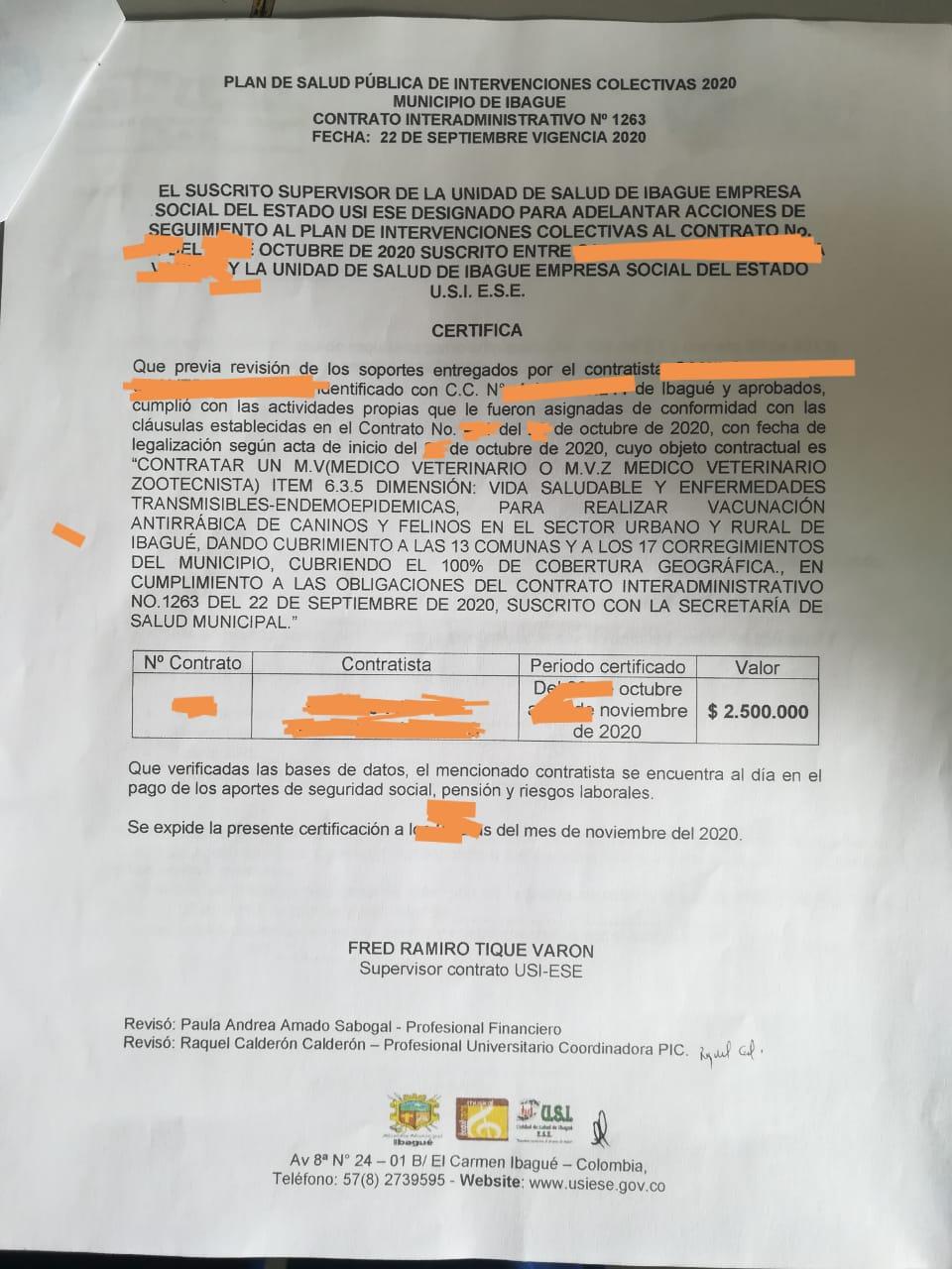 Contratistas de la Alcaldía de Ibagué desesperados porque no les pagan 2