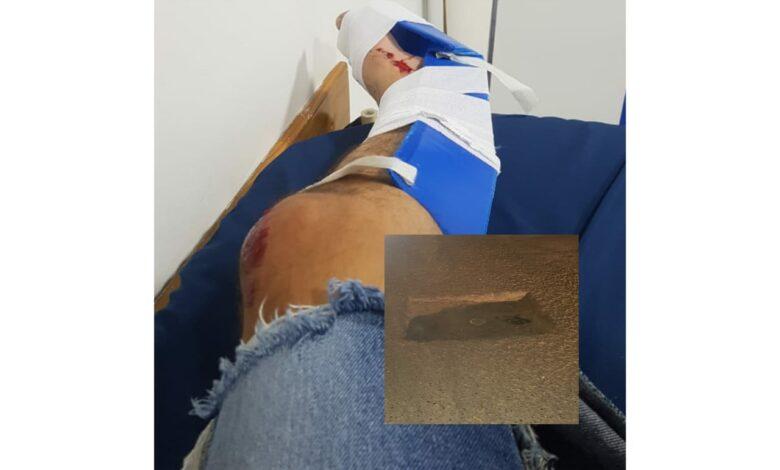 Grave accidente de tránsito por culpa de los huecos en Ibagué 1
