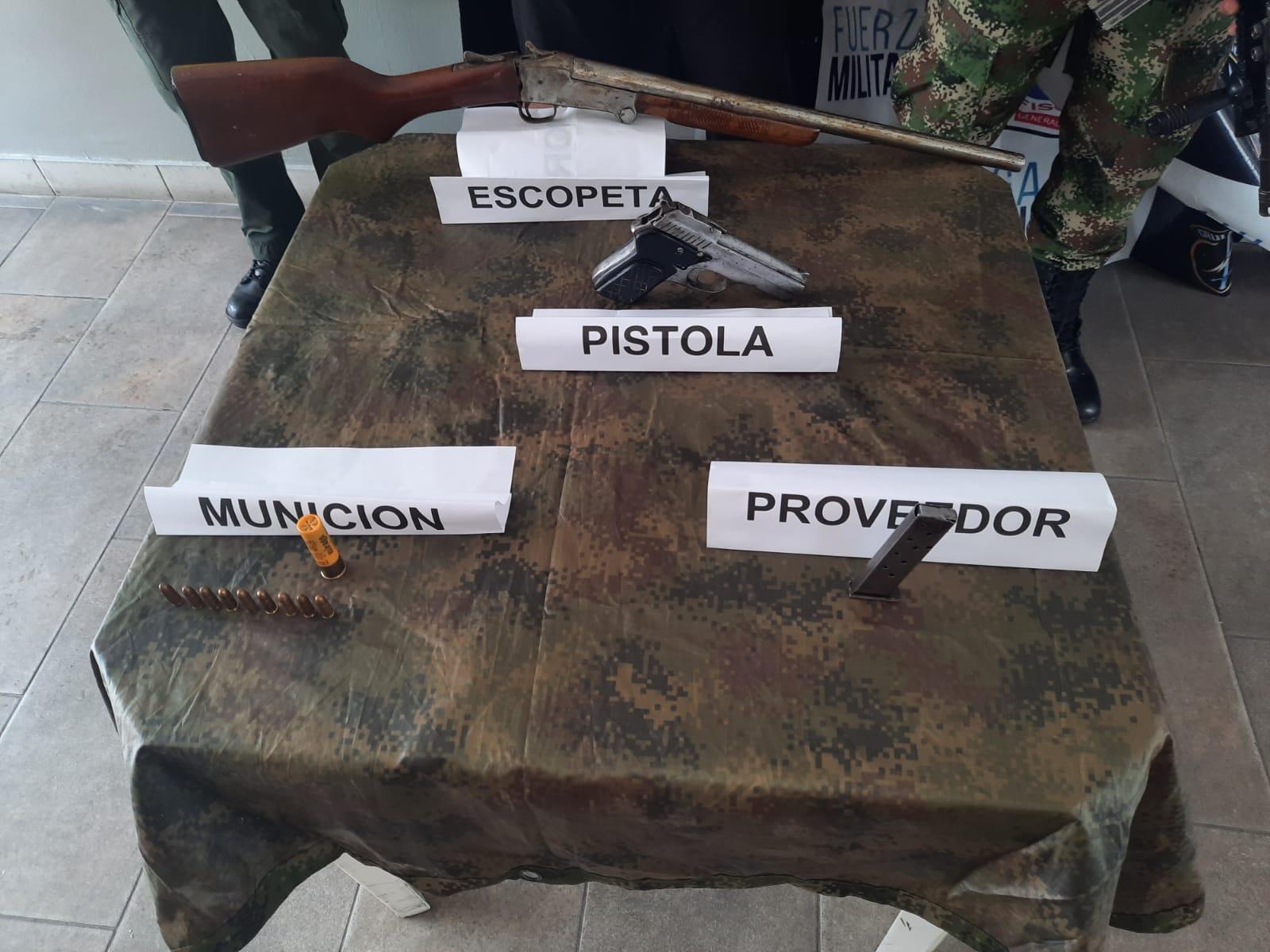 Caen traficantes de armas en el Tolima 2