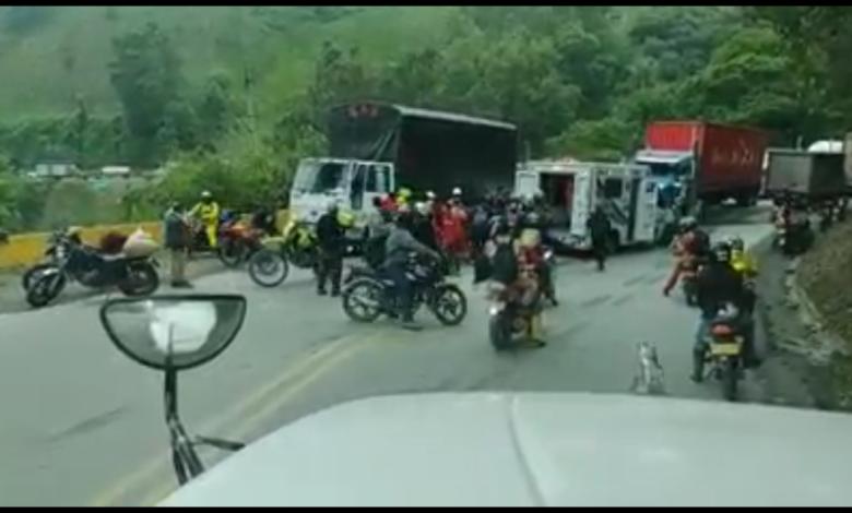 Motociclista fallecido en la vía a la Línea, trabajaba en obras del Tunel 1