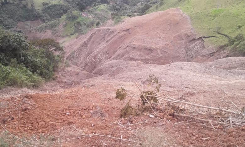 Una persona al parecer quedó atrapada en un deslizamiento en el municipio de Herveo 1