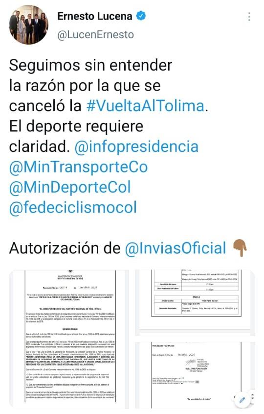 En mayo se estaría realizando la vuelta al Tolima tras su cancelación 4