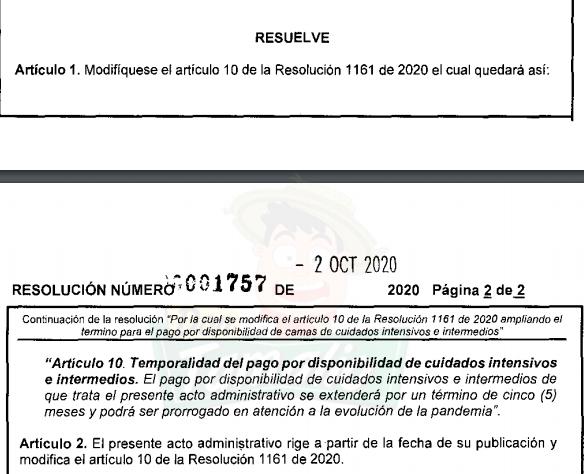 En el Tolima pagaban cerca de $400.000 por reportar camas disponibles en UCI 6