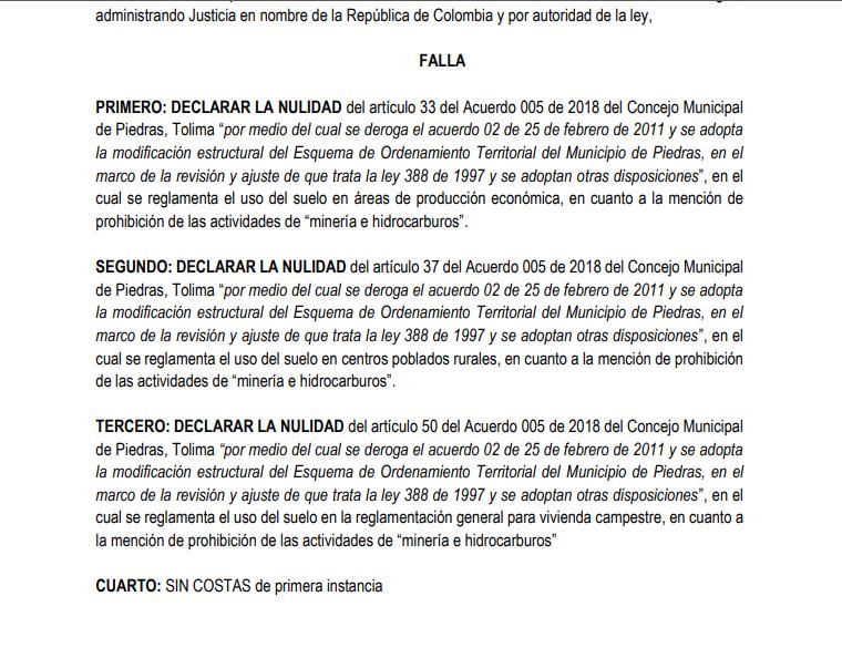 Ganan demanda de nulidad en contra del Municipio de Piedras que prohíbe la minería 16