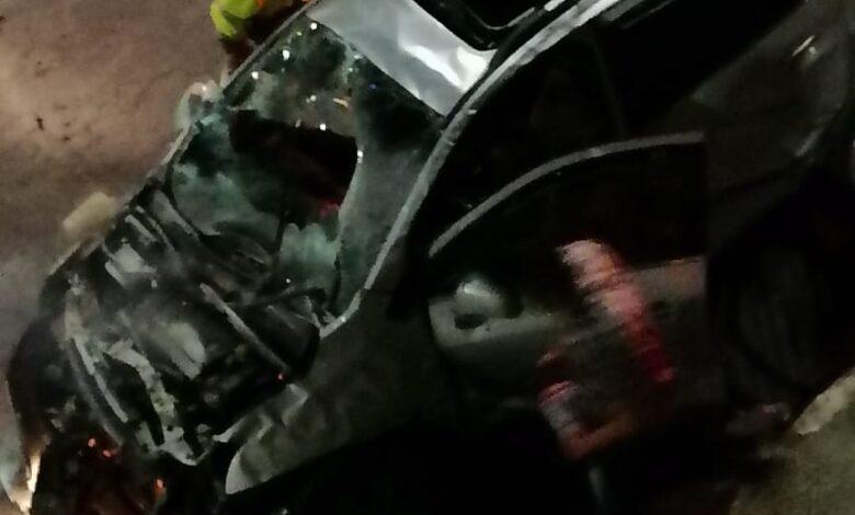 Vehículo cayó del puente de la 37 la madrugada de este domingo 9