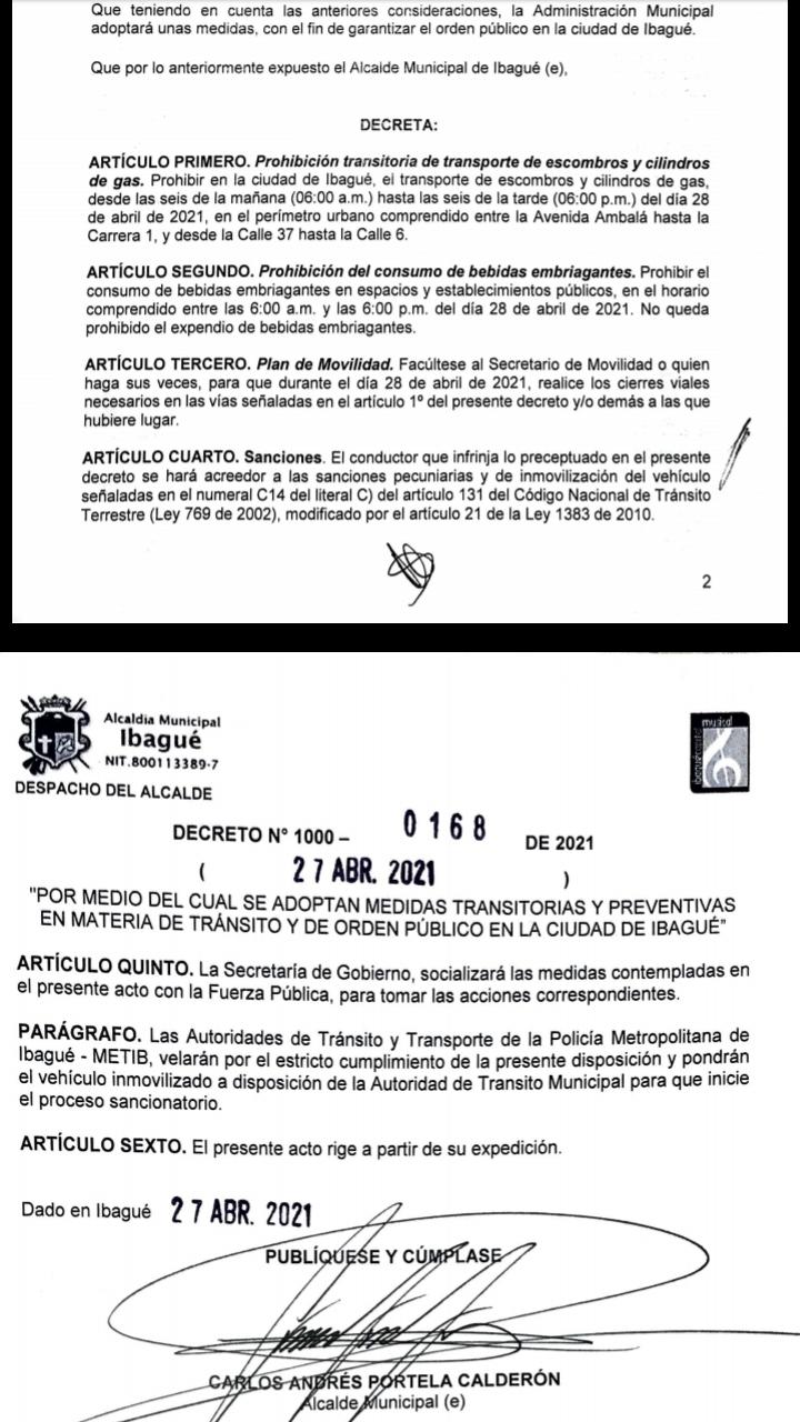 Ibagué no prohibió el parrillero hombre como lo ordenó la Gobernación del Tolima 4
