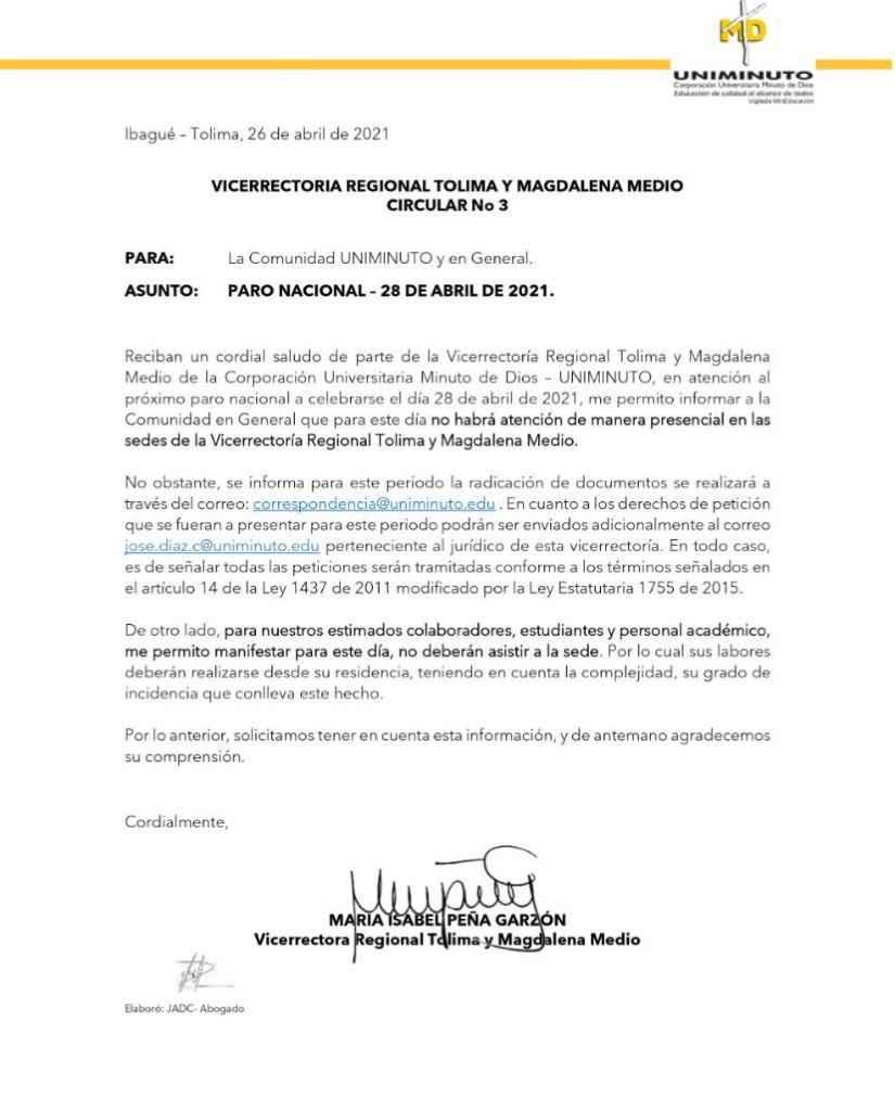 Así reaccionaron tres de las Universidades del Tolima frente al Paro del 28 de abril 8