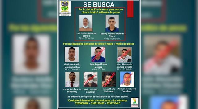 A la cárcel 6 de los 10 fugados de la Estación de Policía en el Espinal 3