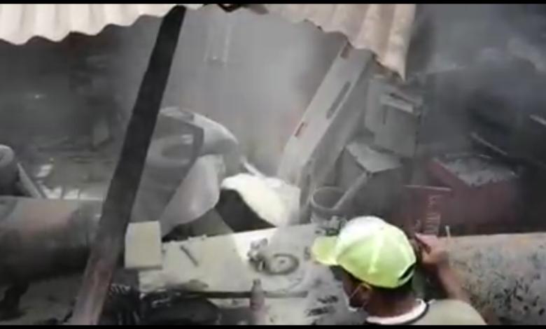 Un muerto y un herido deja explosión de taller de mecánica en Chimita-Santander 1