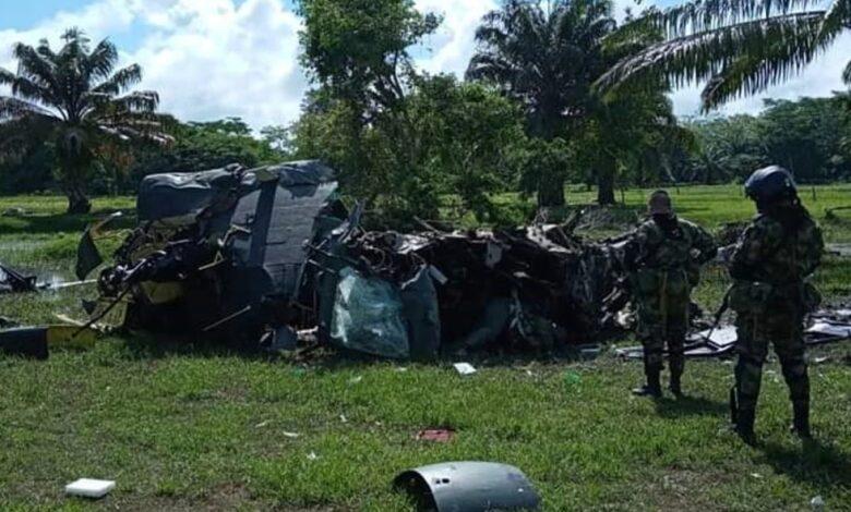 Helicóptero de la Policía cayó al sur de Bolivar 3