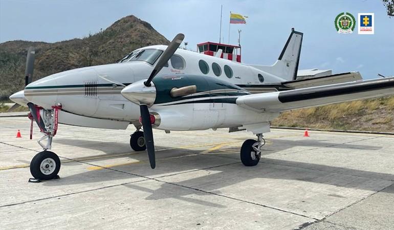 Así eran los recorridos que hacía la avioneta incautada con Cocaína en Providencia 9