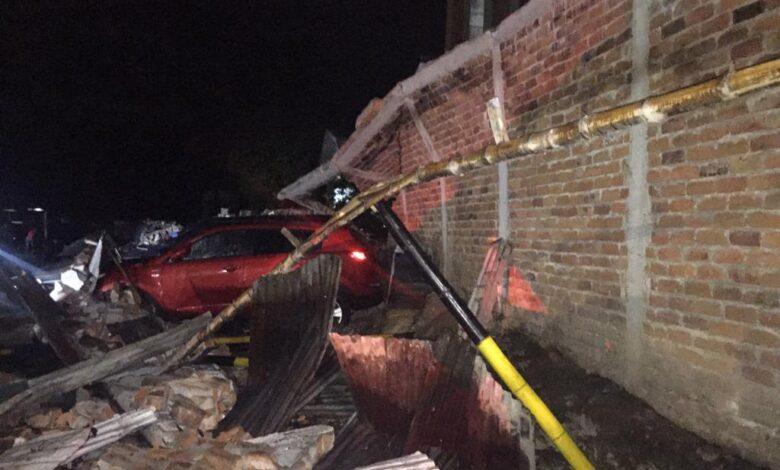 Colapsó muro en parqueadero del centro de Ibagué 1