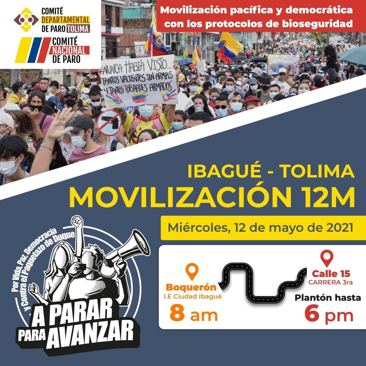 Paro nacional este miércoles 12 de mayo: estas son las protestas y marchas convocadas 6