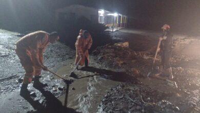 Veredas de Cajamarca nuevamente pasaron la noche bajo el lodo 8