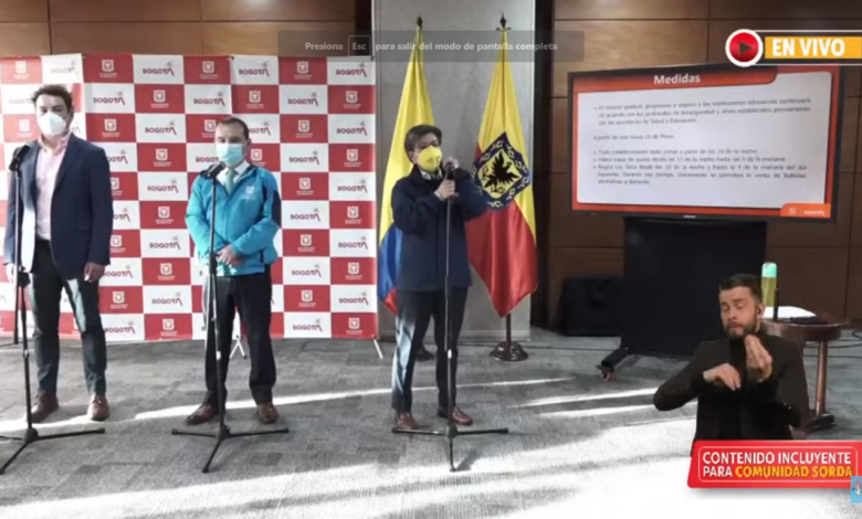 Están son las medidas que se mantiene por tercer pico de Pandemia en Bogotá 1