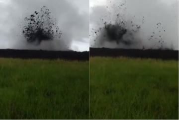 Más de 20 familias fueron evacuadas tras la erupción delvolcán de lodoen el municipio deNecoclí 1