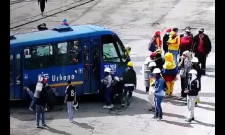 Secuestraron 6 buses del SITP con pasajeros 1