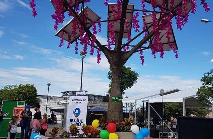 ¡Ibagué ya cuenta con su primer árbol solar de energía renovable! 1