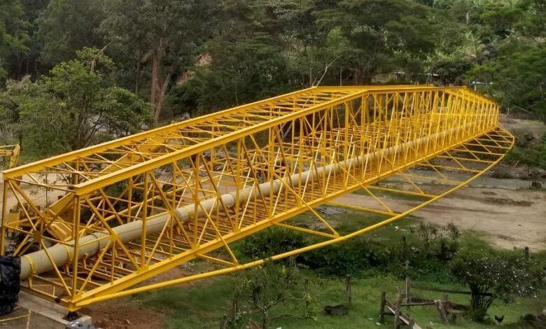 Finalizó instalación del viaducto más importante del Acueducto Complementario 5