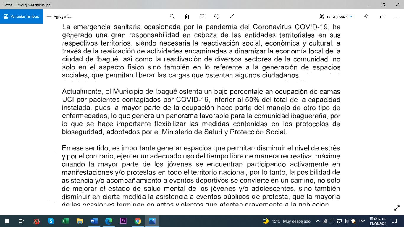 Alcaldía dice que UCI Covid están al 50 % en solicitud para que dejen entrar hinchas al Murillo Toro 6