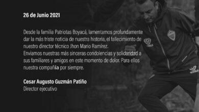 Falleció Jhon Mario Ramírez, exfutbolista y director técnico de Patriotas 2