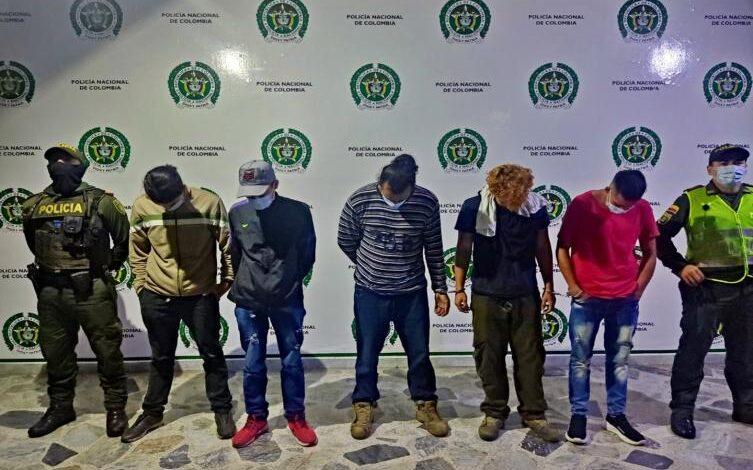 Estos son los cinco capturados y tres aprehendidos que serán judicializados por destruir busetas 1