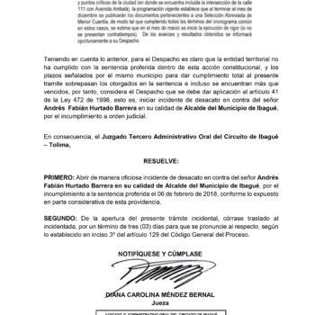 Semáforo de Pacandé genera incidente de desacato en contra del alcalde Andrés Hurtado 3
