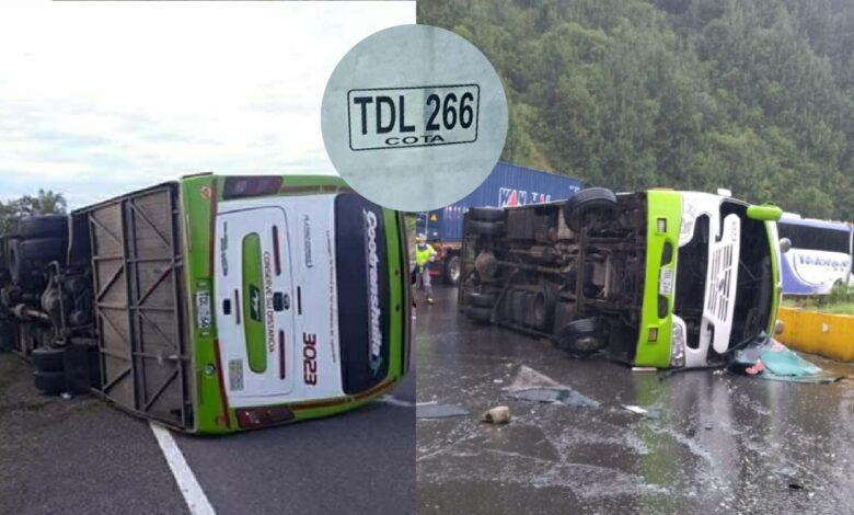 Cero y van dos accidentes del mismo bus de Cootranshuila 3