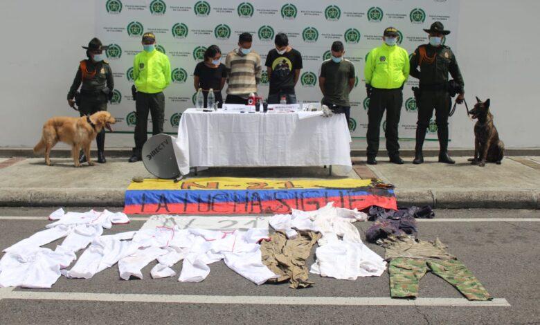 Capturados cuatro presuntos responsables de actos vandálicos en Ibagué 1