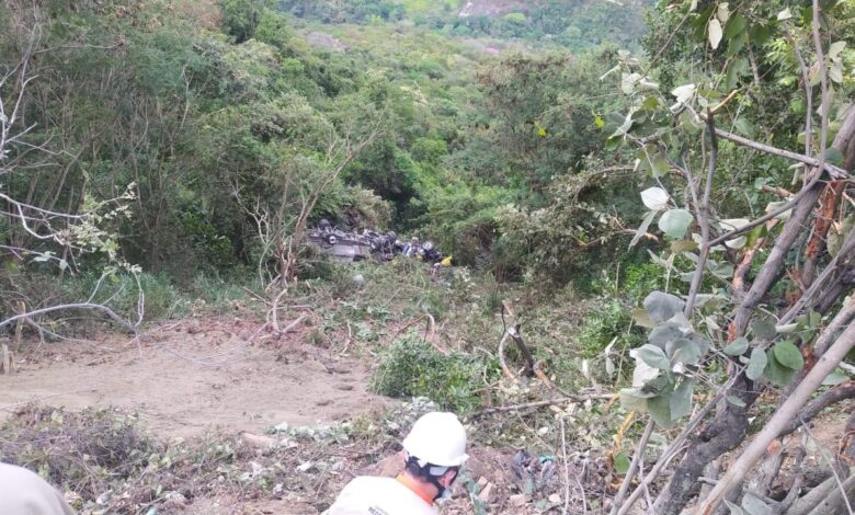 Conductor perdió la vida tras salirse de la carretera y rodar por un abismo 1