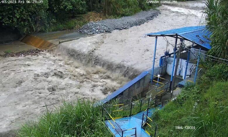 Por alta turbiedad en el río Combeima, se podrá presentar intermitencia en el suministro de agua 1