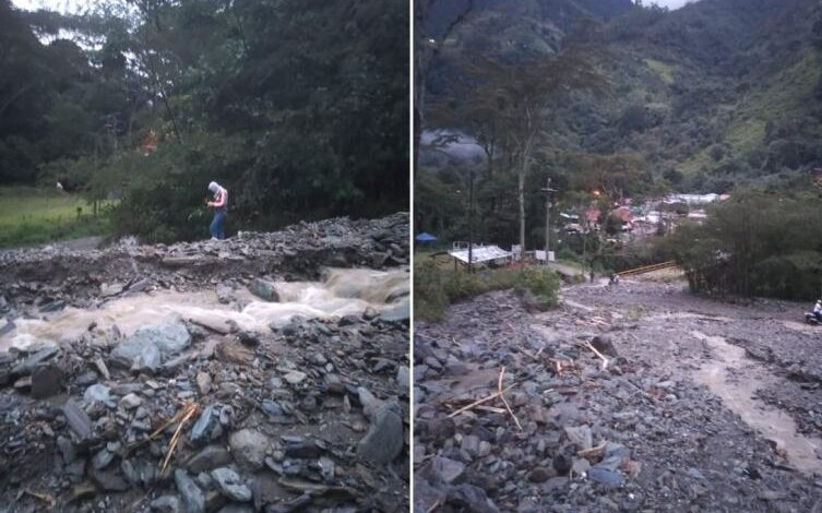 Colapsó la vía entre Villa Restrepo y Juntas 1