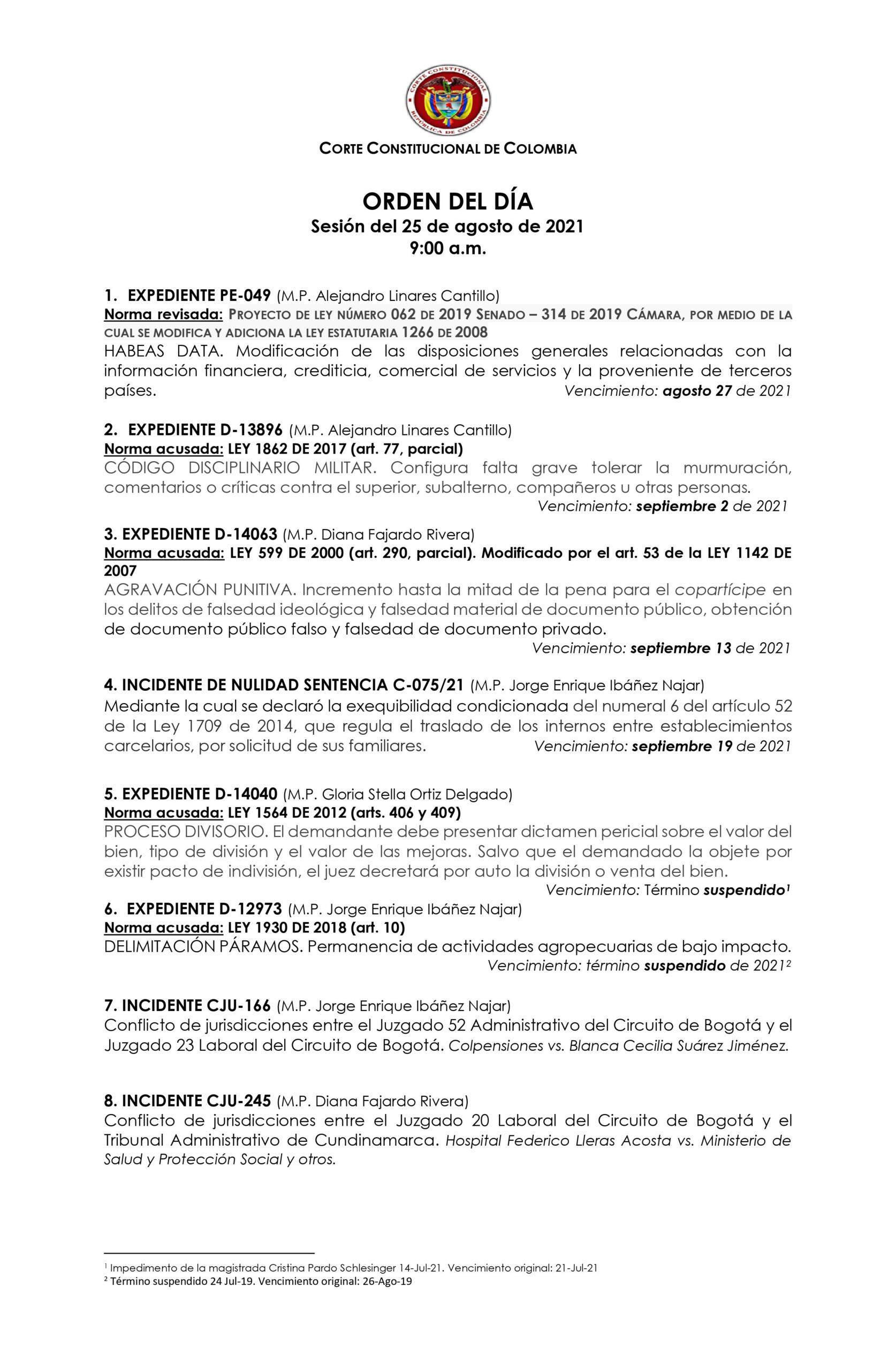 Corte Constitucional definirá el caso del Mayor Molano 2
