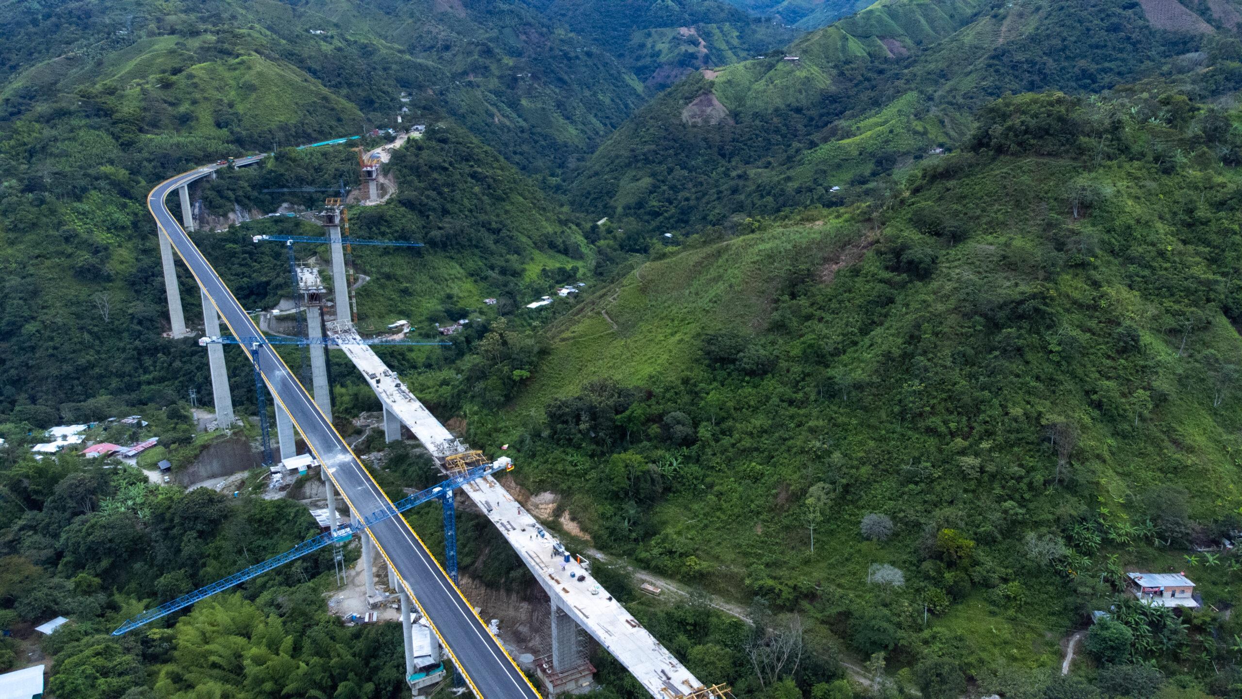 21 Viaductos en 15 kilómetros tiene el primer tramo de la nueva vía Ibagué- Cajamarca 8