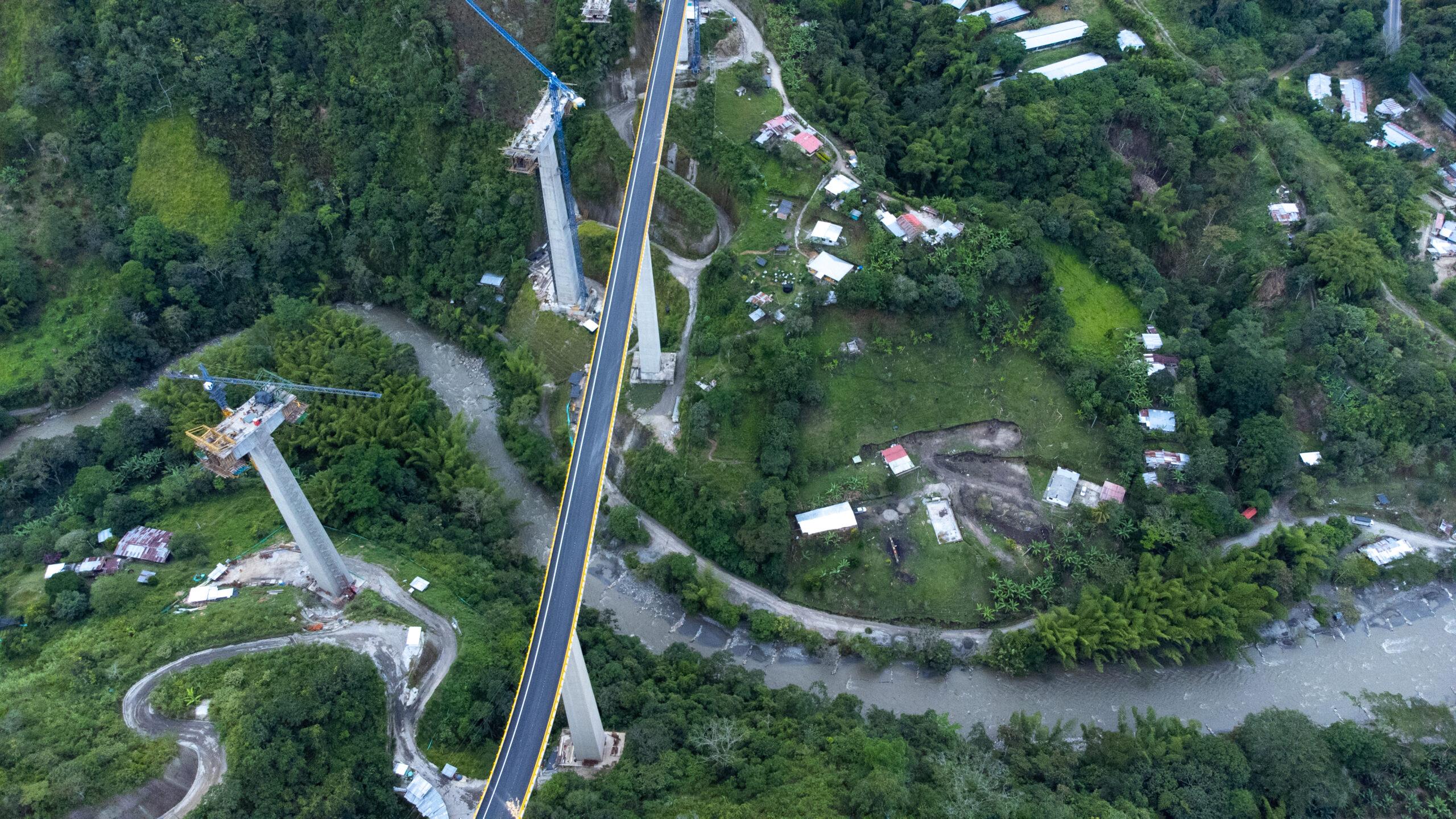 21 Viaductos en 15 kilómetros tiene el primer tramo de la nueva vía Ibagué- Cajamarca 10
